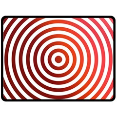 Concentric Red Rings Background Double Sided Fleece Blanket (large)