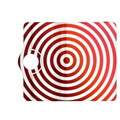 Concentric Red Rings Background Kindle Fire Hdx 8 9  Flip 360 Case by Nexatart