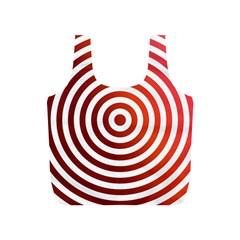 Concentric Red Rings Background Full Print Recycle Bags (s)