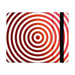 Concentric Red Rings Background Samsung Galaxy Tab Pro 8 4  Flip Case