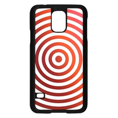 Concentric Red Rings Background Samsung Galaxy S5 Case (black)