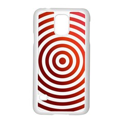 Concentric Red Rings Background Samsung Galaxy S5 Case (white)