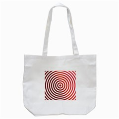Concentric Red Rings Background Tote Bag (white)