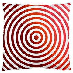 Concentric Red Rings Background Standard Flano Cushion Case (two Sides) by Nexatart