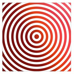 Concentric Red Rings Background Large Satin Scarf (square)