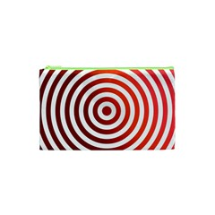 Concentric Red Rings Background Cosmetic Bag (xs)