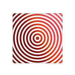 Concentric Red Rings Background Satin Bandana Scarf