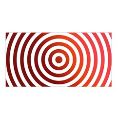Concentric Red Rings Background Satin Shawl