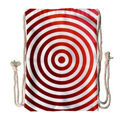 Concentric Red Rings Background Drawstring Bag (large)