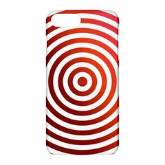 Concentric Red Rings Background Apple Iphone 7 Plus Hardshell Case