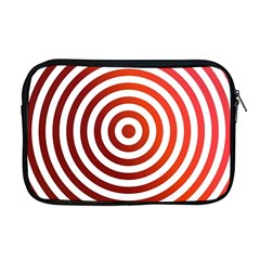 Concentric Red Rings Background Apple Macbook Pro 17  Zipper Case by Nexatart