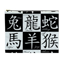 Chinese Signs Of The Zodiac Cosmetic Bag (xl)