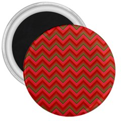 Background Retro Red Zigzag 3  Magnets by Nexatart