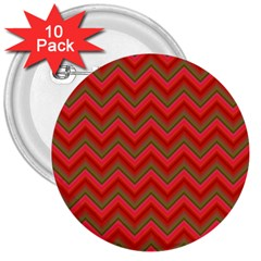Background Retro Red Zigzag 3  Buttons (10 Pack)