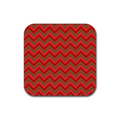 Background Retro Red Zigzag Rubber Square Coaster (4 Pack)  by Nexatart