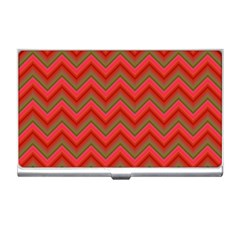 Background Retro Red Zigzag Business Card Holders