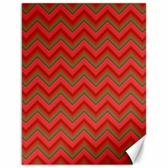 Background Retro Red Zigzag Canvas 12  X 16