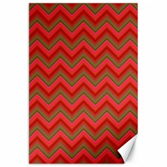 Background Retro Red Zigzag Canvas 20  X 30