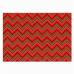 Background Retro Red Zigzag Large Glasses Cloth (2 Side)