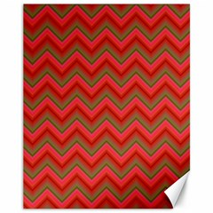 Background Retro Red Zigzag Canvas 11  X 14