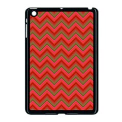 Background Retro Red Zigzag Apple Ipad Mini Case (black)