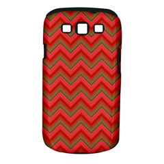 Background Retro Red Zigzag Samsung Galaxy S Iii Classic Hardshell Case (pc+silicone)