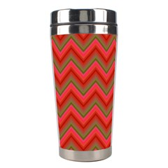 Background Retro Red Zigzag Stainless Steel Travel Tumblers by Nexatart