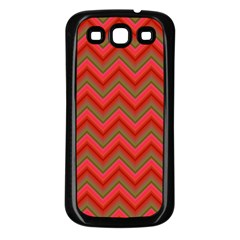Background Retro Red Zigzag Samsung Galaxy S3 Back Case (black)