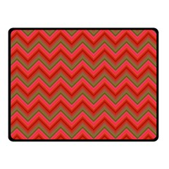 Background Retro Red Zigzag Double Sided Fleece Blanket (small)