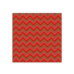 Background Retro Red Zigzag Satin Bandana Scarf