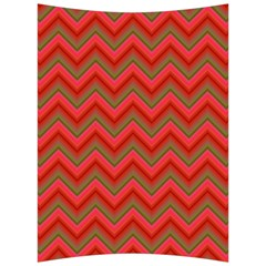 Background Retro Red Zigzag Back Support Cushion