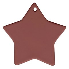 Blush Gold Coppery Pink Solid Color Ornament (star) by PodArtist
