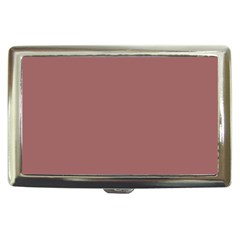 Blush Gold Coppery Pink Solid Color Cigarette Money Cases by PodArtist