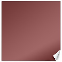 Blush Gold Coppery Pink Solid Color Canvas 12  X 12   by PodArtist