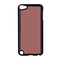 Blush Gold Coppery Pink Solid Color Apple Ipod Touch 5 Case (black) by PodArtist