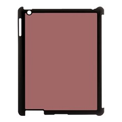 Blush Gold Coppery Pink Solid Color Apple Ipad 3/4 Case (black) by PodArtist