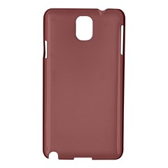 Blush Gold Coppery Pink Solid Color Samsung Galaxy Note 3 N9005 Hardshell Case by PodArtist