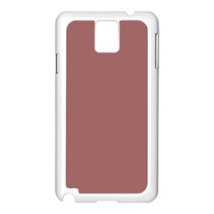 Blush Gold Coppery Pink Solid Color Samsung Galaxy Note 3 N9005 Case (white) by PodArtist