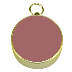 Blush Gold Coppery Pink Solid Color Gold Compasses by PodArtist