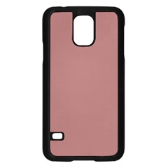 Blush Gold Coppery Pink Solid Color Samsung Galaxy S5 Case (black) by PodArtist