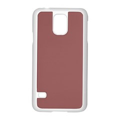 Blush Gold Coppery Pink Solid Color Samsung Galaxy S5 Case (white) by PodArtist