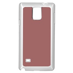Blush Gold Coppery Pink Solid Color Samsung Galaxy Note 4 Case (white) by PodArtist
