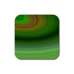Green Background Elliptical Rubber Coaster (square)