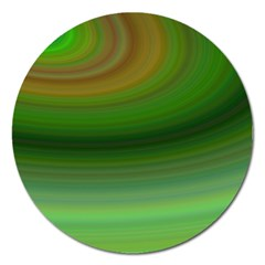 Green Background Elliptical Magnet 5  (round) by Nexatart