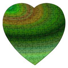 Green Background Elliptical Jigsaw Puzzle (heart) by Nexatart