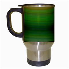 Green Background Elliptical Travel Mugs (white)