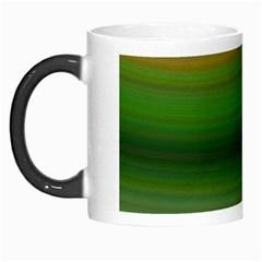 Green Background Elliptical Morph Mugs