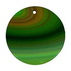 Green Background Elliptical Round Ornament (two Sides)