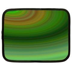 Green Background Elliptical Netbook Case (large)