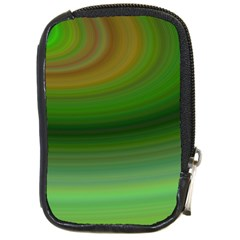 Green Background Elliptical Compact Camera Cases